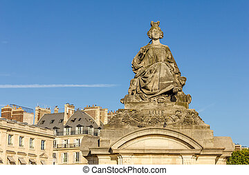 Statue of Lille, Place de la Concorde, Paris