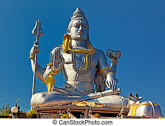Statue of Lord Shiva in Murudeshwar Temple in Karnataka. India