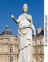 Minerva - Statue of Minerva (equated with the Greek goddess...