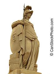 Statue of Minerva on the Old Bridge (Alte Br?cke) of Heidelberg, Germany. Carl Linck,