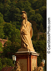 Statue of Minerva on the Old Bridge in Heidelberg, Germany