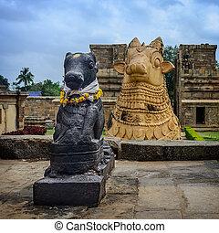 Statue of Nandi Bull in front of Gangaikondacholapuram...