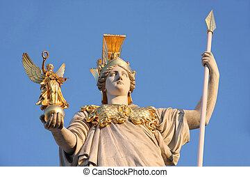 Statue of Pallas Athena in Vienna, Austria