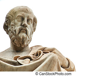 Statue of Plato in Athens.