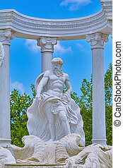 Statue of Poseidon between the Columns