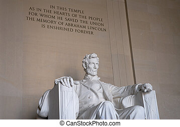 Statue of President Abraham Lincoln - Statue of Abraham...