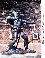 Statue of Robin Hood, Nottingham.