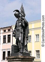 Saint Florian - Statue of Saint Florian in Frydek Mistek, ...