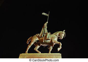 Statue of saint Wenceslas in Prague