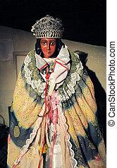 Statue of Sara the Black, the patron Saint of Gypsies