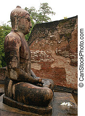 Statue of Seated Buddha in Vatadage Temple, Polonnaruwa