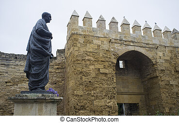 Statue of Seneca, one of the main gate of Cordoba Old Town