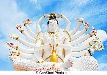 Statue of Shiva in Thailand, island Koh Samui