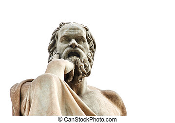 Statue of Socrates in Athens. - Statue of ancient Greek...