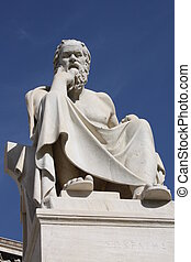 Statue of Socrates in Athens - Neoclassical statue of...