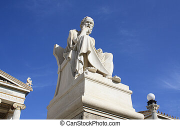 Statue of Socrates - Neoclassical statue of ancient Greek...