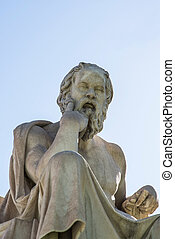 statue of Socrates - statue of ancient Greek philosopher...