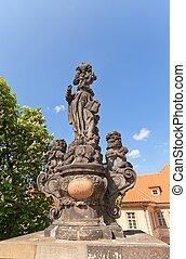 Statue of St. Cajetan on Charles Bridge in Prague