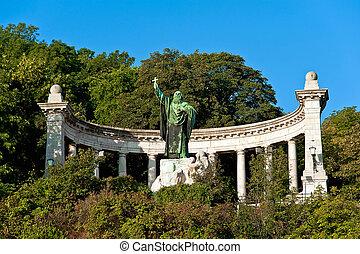 Statue of St Gellert in Budapest