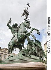Statue of St George in Berlin