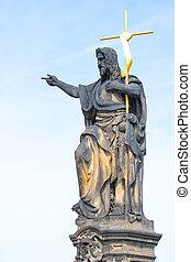 Statue of St. John Baptist. By Josef Max On the Carlo Bridge in Prague