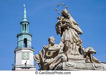 Statue of St. John Nepomucene in Poznan
