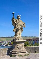 Statue of St John Nepomuk in Wurzburg
