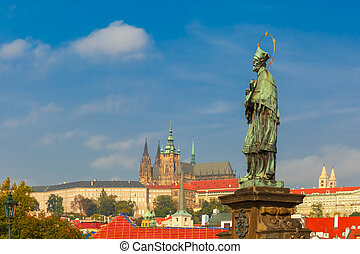 Statue of St. John Nepomuk, Prague, Czech Republic