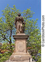 Statue of St. Jude Thaddeus on Charles Bridge in Prague