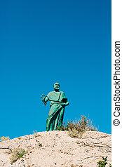 Statue of St. Peter at Makarska