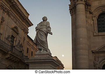 Statue of St Peter, Cathedral of Syracuse