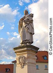 statue of St. Philippus Benitius on Charles bridge, Prague
