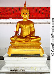 Buddha - Statue of the Buddha at a tample. Thailand