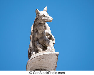 Statue of the Capitoline Wolf in Siena - Statue of the...
