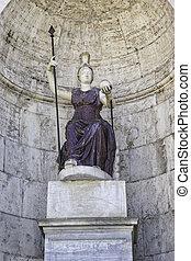 Statue of the goddess Fontana Della Dea Roma On Capitoline Hill, Rome