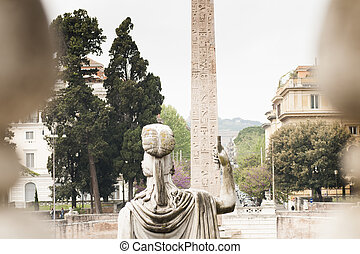 statue of the goddess Roma