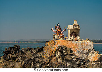 Statue of the Hindu God Vishnu