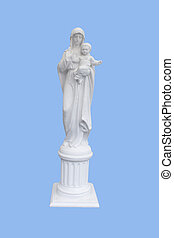 statue of the Mother of God with a