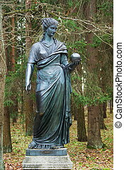 Statue of the muse of poetry