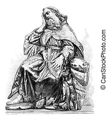 Statue of the prophet Elijah, by Alonso Cano, in the church...