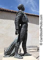 Statue of the torero Antonio Ordonez in Ronda, Andalusia Spain