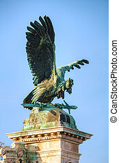 Statue of Turulbird at the Royal castle in Budapest