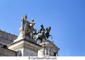 Statue of Victor Emmanuel II at Piazza Venezia in Rome