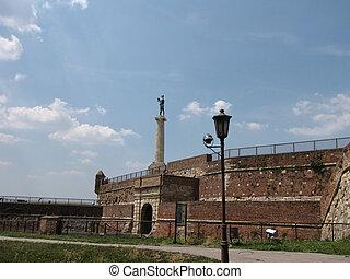 Statue of Victory - Kalemegdan fortress in Belgrade, Serbia