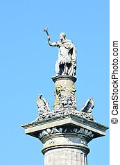 Statue of victory on column top
