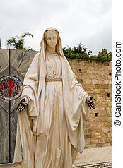 Statue of Virgin Mary, Church of the Annunciation in Nazareth
