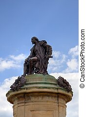 Statue of William Shakespeare with space for copy