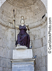 Statue of Woman with Spear and Ball