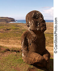 Statue On Easter Island