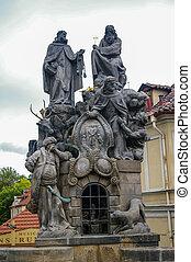 Statue on the Charles Bridge in Prague